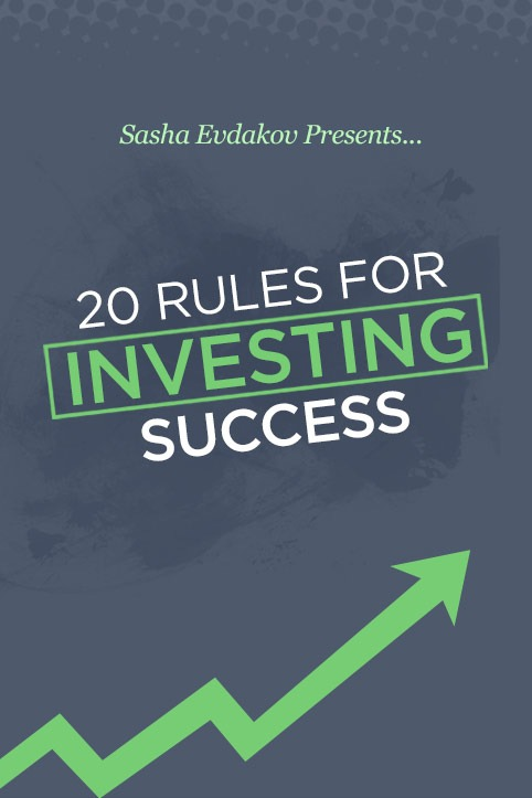Book by Sasha Evdakov: 20 Rules for Investing Success Bookcover