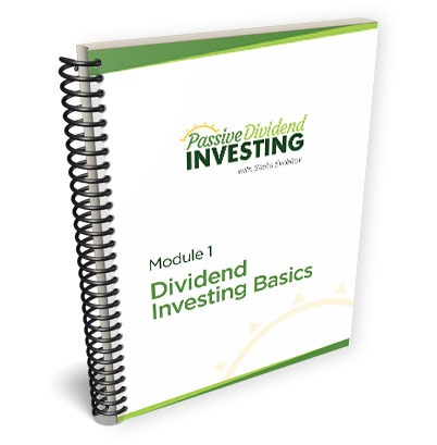 Passive Dividend Investing Course Study Guide 3D Notebook