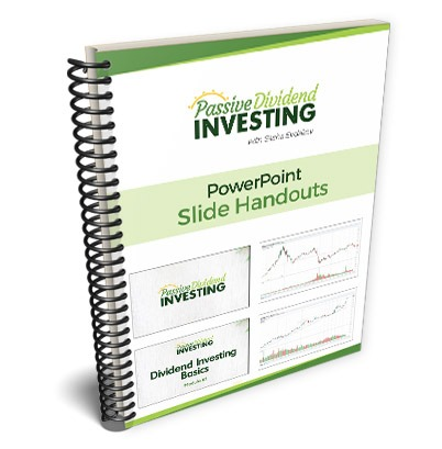Passive Dividend Investing Course PowerPoint Slide Handouts 3D Notebook