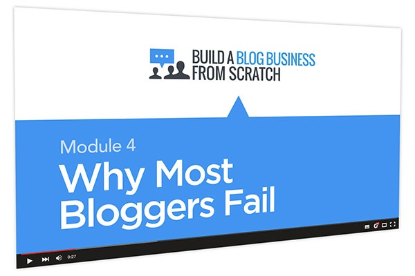 Build a Blog Business from Scratch Course Thumbnail for Module 4 Why Most Bloggers Fail