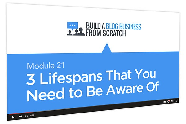 Build a Blog Business from Scratch Course Thumbnail for Module 21 3 Lifespans That You Need to be Aware Of