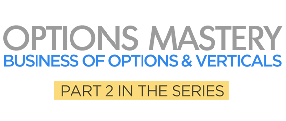 Business of Options & Verticals Options Mastery Course Logo
