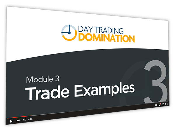 Day Trading Domination Course Thumbnail for Module 3 Trade Examples