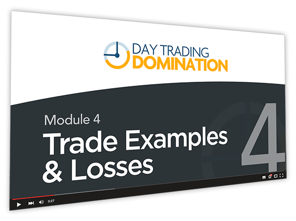 Day Trading Domination Course Thumbnail for Module 4 Trade Examples & Losses