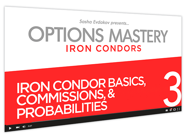Iron Condors Options Mastery Course Thumbnail for Module 3 Iron Condor Basics, Commissions, & Probabilities
