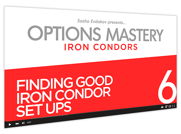 Iron Condors Options Mastery Course Thumbnail for Module 6 Finding Good Iron Condor Setups