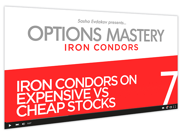 Iron Condors Options Mastery Course Thumbnail for Module 7 Iron Condors on Expensive vs Cheap Stocks