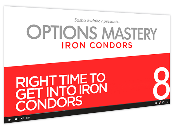 Iron Condors Options Mastery Course Thumbnail for Module 8 Right Time to Get into Iron Condors
