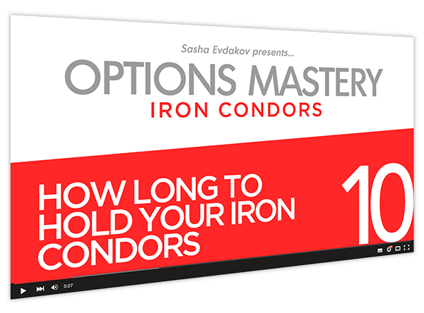 Iron Condors Options Mastery Course Thumbnail for Module 10 How Long to Hold Your Iron Condors