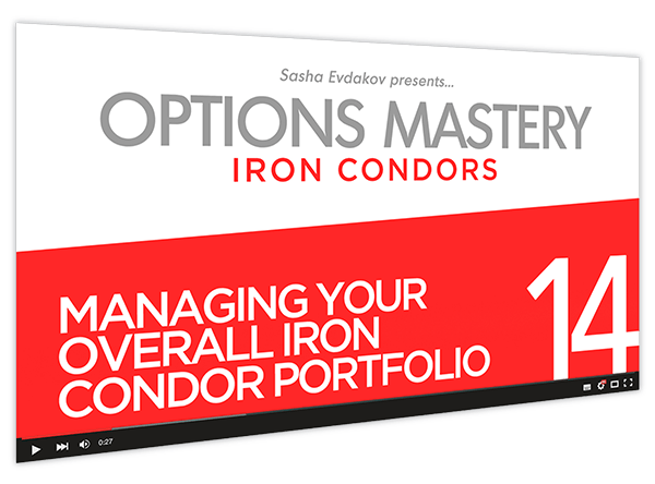 Iron Condors Options Mastery Course Thumbnail for Module 14 Managing Your Overall Iron Condor Portfolio