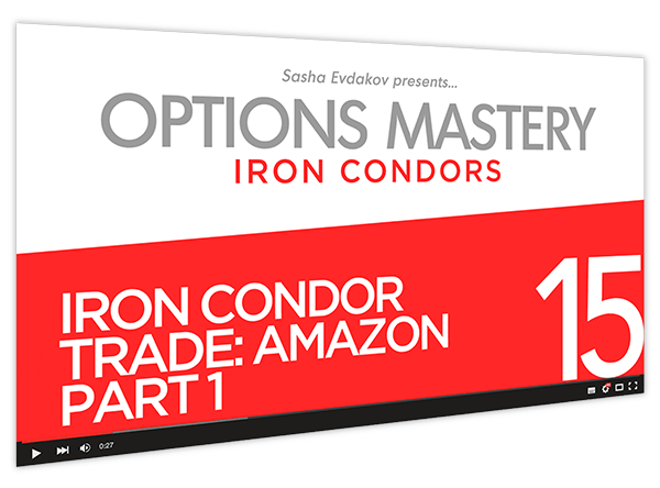 Iron Condors Options Mastery Course Thumbnail for Module 15 Iron Condor Trade Amazon Part 1