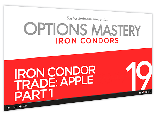 Iron Condors Options Mastery Course Thumbnail for Module 19 Iron Condor Trade Apple Part 1