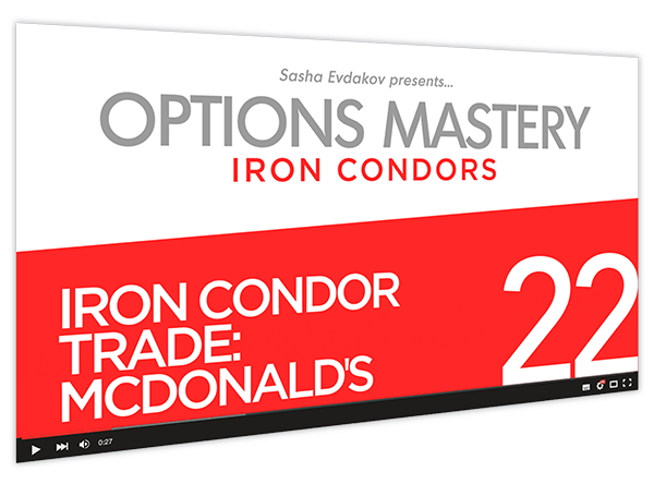 Iron Condors Options Mastery Course Thumbnail for Module 22 Iron Condor Trade McDonald's