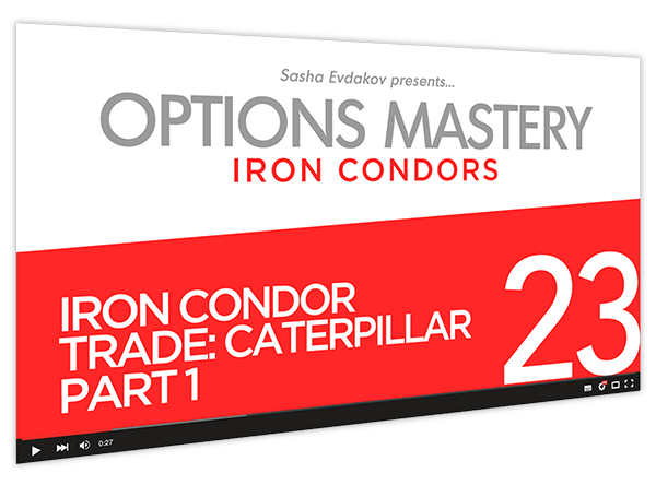 Iron Condors Options Mastery Course Thumbnail for Module 23 Iron Condor Trade Caterpillar Part 1