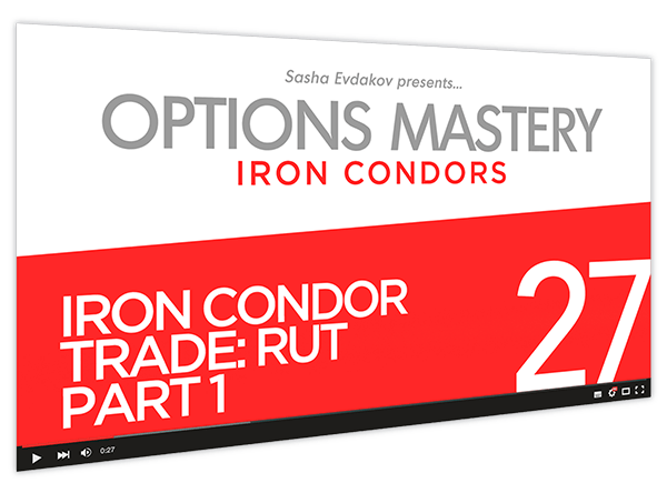 Iron Condors Options Mastery Course Thumbnail for Module 27 Iron Condor Trade RUT Part 1