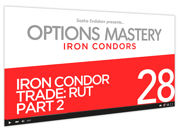 Iron Condors Options Mastery Course Thumbnail for Module 28 Iron Condor Trade RUT Part 2