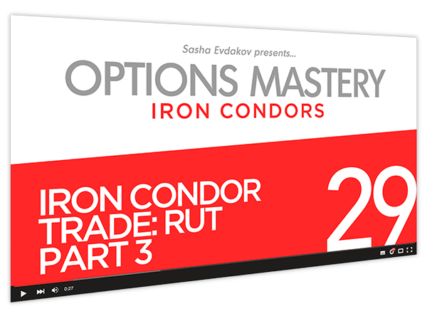 Iron Condors Options Mastery Course Thumbnail for Module 29 Iron Condor Trade RUT Part 3