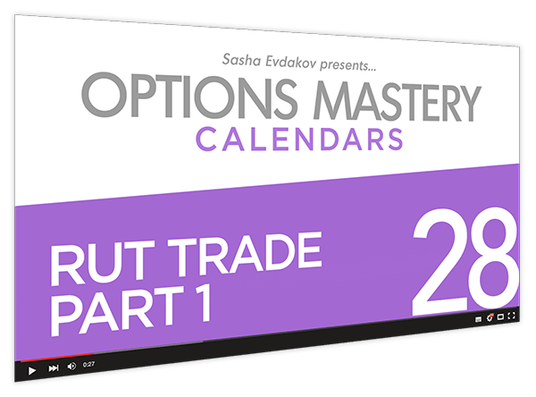 Calendars Options Mastery Course Thumbnail for Module 28 RUT Trade Part 1