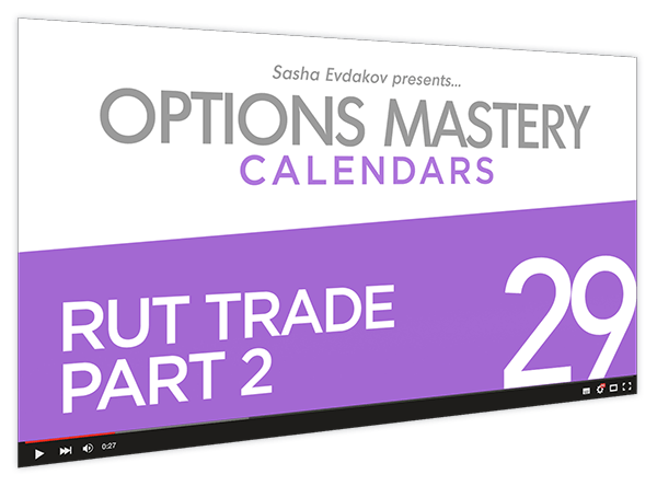 Calendars Options Mastery Course Thumbnail for Module 29 RUT Trade Part 2