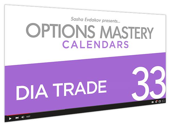Calendars Options Mastery Course Thumbnail for Module 33 DIA Trade