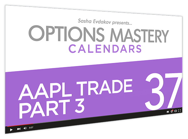 Calendars Options Mastery Course Thumbnail for Module 37 AAPL Trade Part 3