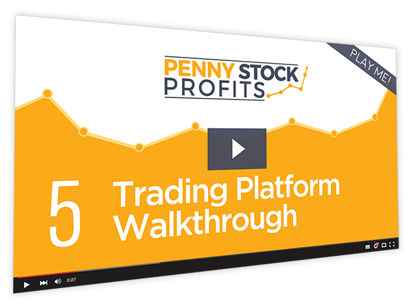 Penny Stock Profits Course Thumbnail for Module 5 - Trading Platform Walkthrough