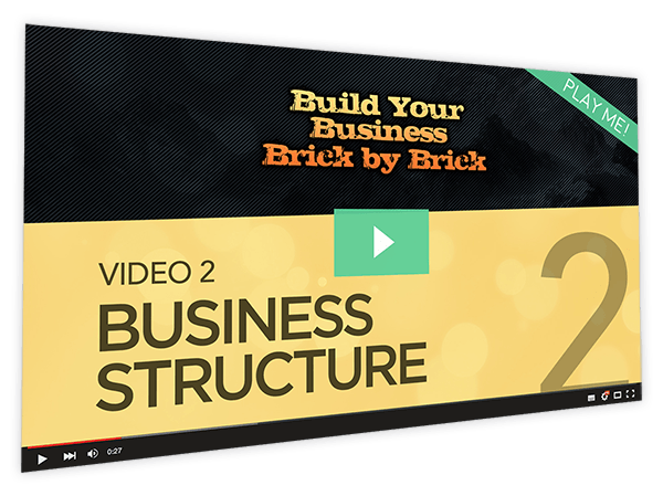 Build Your Business Brick by Brick Course Thumbnail for Module 2 Business Structure