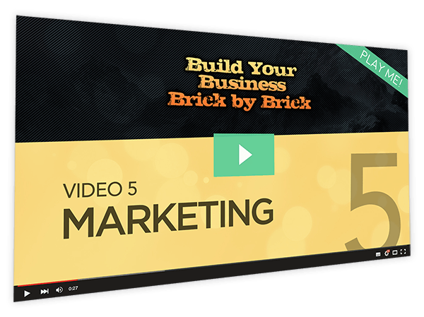 Build Your Business Brick by Brick Course Thumbnail for Module 5 Marketing