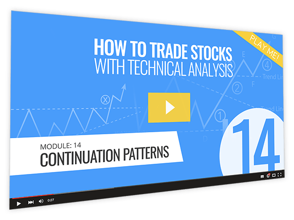 How to Trade Stocks with Technical Analysis Course Thumbnail for Module 14 Continuation Patterns