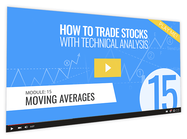 How to Trade Stocks with Technical Analysis Course Thumbnail for Module 15 Moving Averages