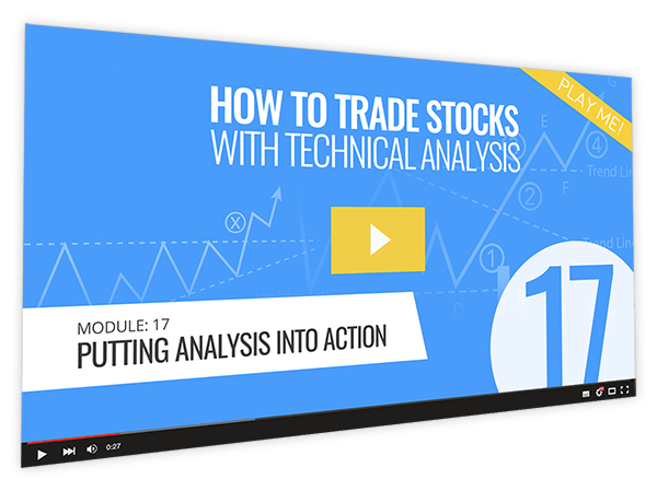 How to Trade Stocks with Technical Analysis Course Thumbnail for Module 17 Putting Analysis into Action