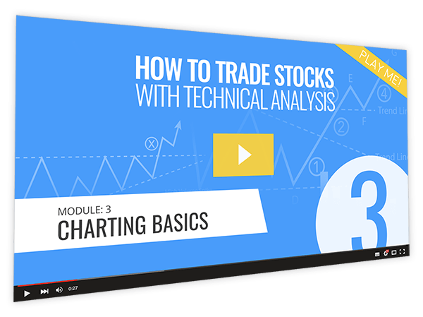How to Trade Stocks with Technical Analysis Course Thumbnail for Module 3 Charting Basics