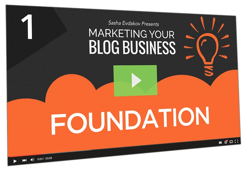 Marketing Your Blog Business Course Thumbnail for Module 1 Foundation