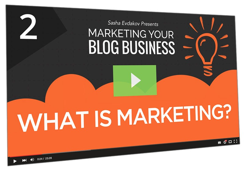 Marketing Your Blog Business Course Thumbnail for Module 2 What is Marketing