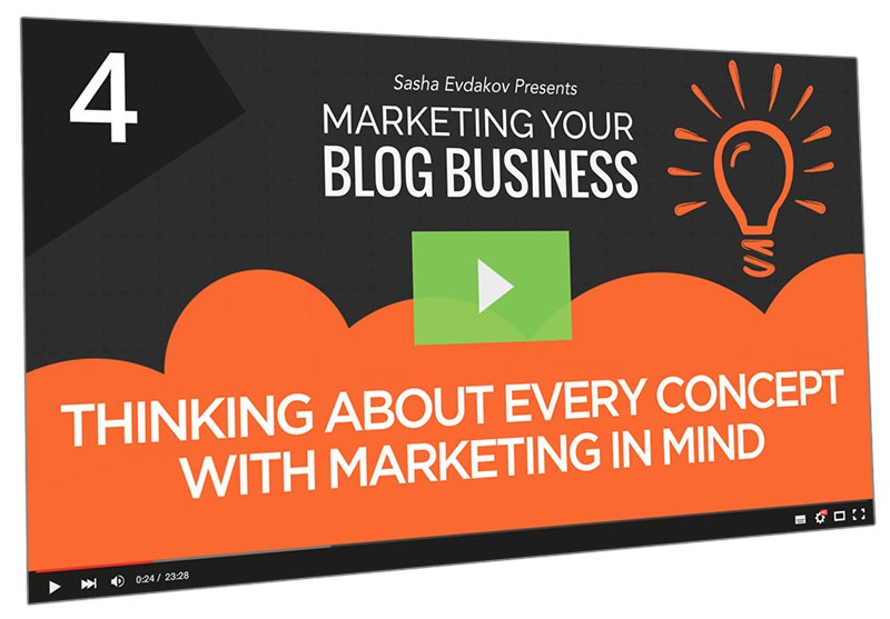 Marketing Your Blog Business Course Thumbnail for Module 4 Thinking About Every Concept with Marketing in Mind