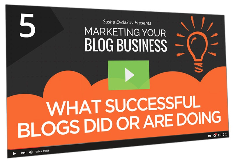 Marketing Your Blog Business Course Thumbnail for Module 5 What Successful Blogs Did or are Doing