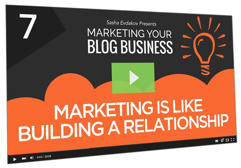 Marketing Your Blog Business Course Thumbnail for Module 7 Marketing is Like Building a Relationship