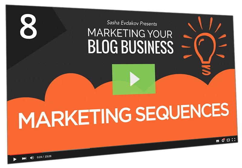 Marketing Your Blog Business Course Thumbnail for Module 8 Marketing Sequences