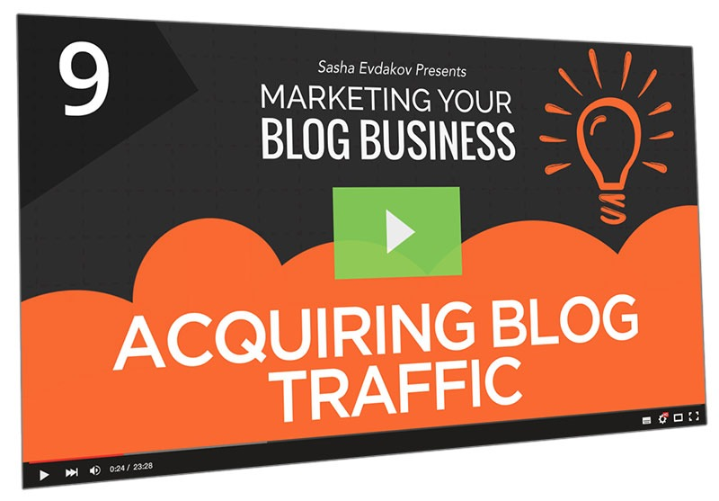 Marketing Your Blog Business Course Thumbnail for Module 9 Acquiring Blog Traffic