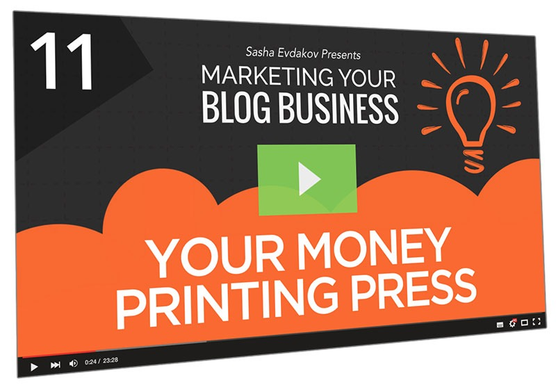Marketing Your Blog Business Course Thumbnail for Module 11 Your Money Printing Press