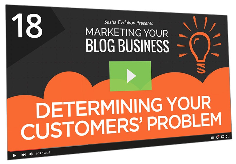 Marketing Your Blog Business Course Thumbnail for Module 18 Determining Your Customers' Problem