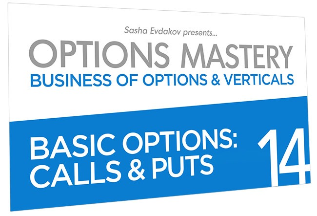 Business of Options and Verticals Options Mastery Course Thumbnail for Module 14 Basic Options: Calls & Puts
