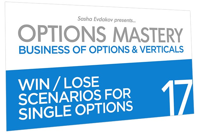 Business of Options and Verticals Options Mastery Course Thumbnail for Module 17 Win Lose Scenarios for Single Options